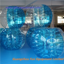 Blue half colored bubble football soccer