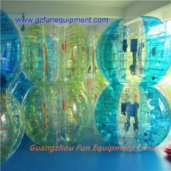 Yellow stripe bubble soccer for sale factory price