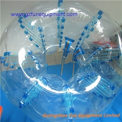 Colored dot futball bubble / bumper ball for adults