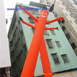 Orange advertising air dancer