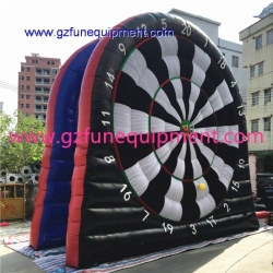 Inflatable foot dart board