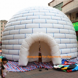 Giant pvc inflatable igloo / inflatable tent for party