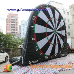 Single side inflatable kick dart soccer ball