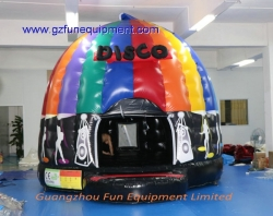 Disco bouncer castle with led lighting
