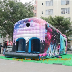disco commercial bouncy castle inflatable obstacle course